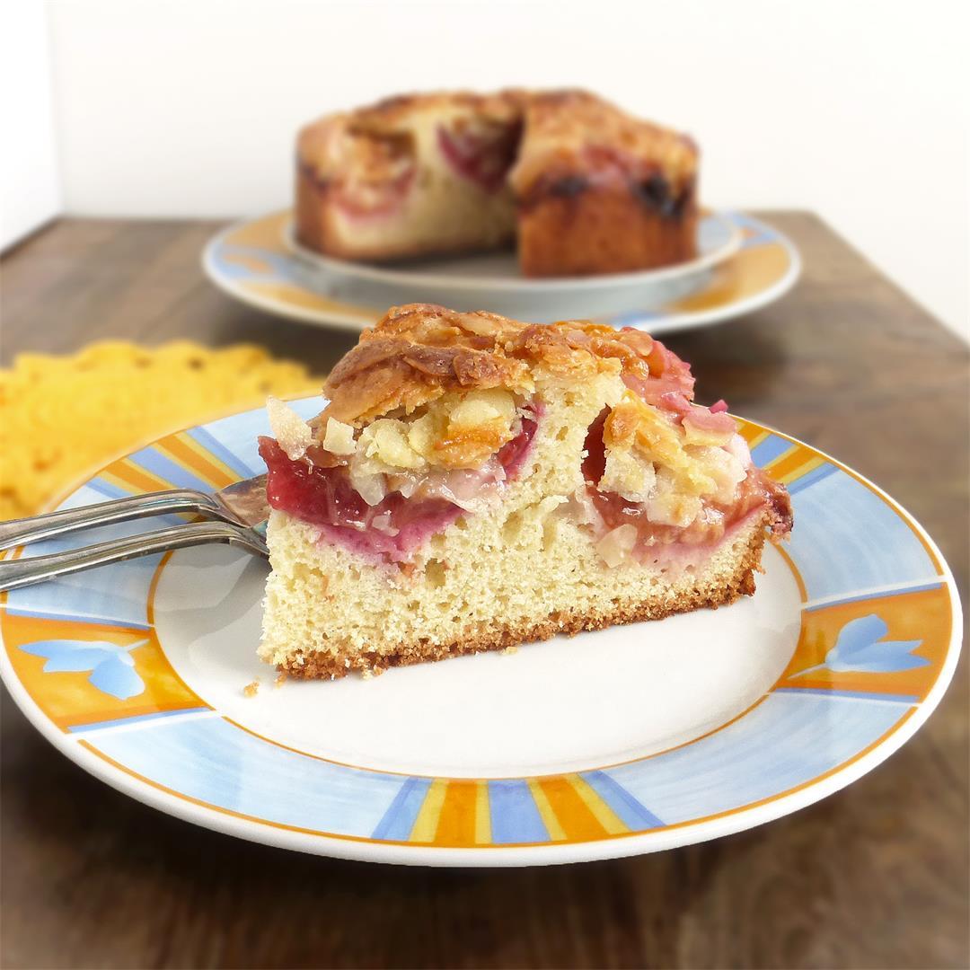 Swedish Plum Tosca Cake (Toscakaka)
