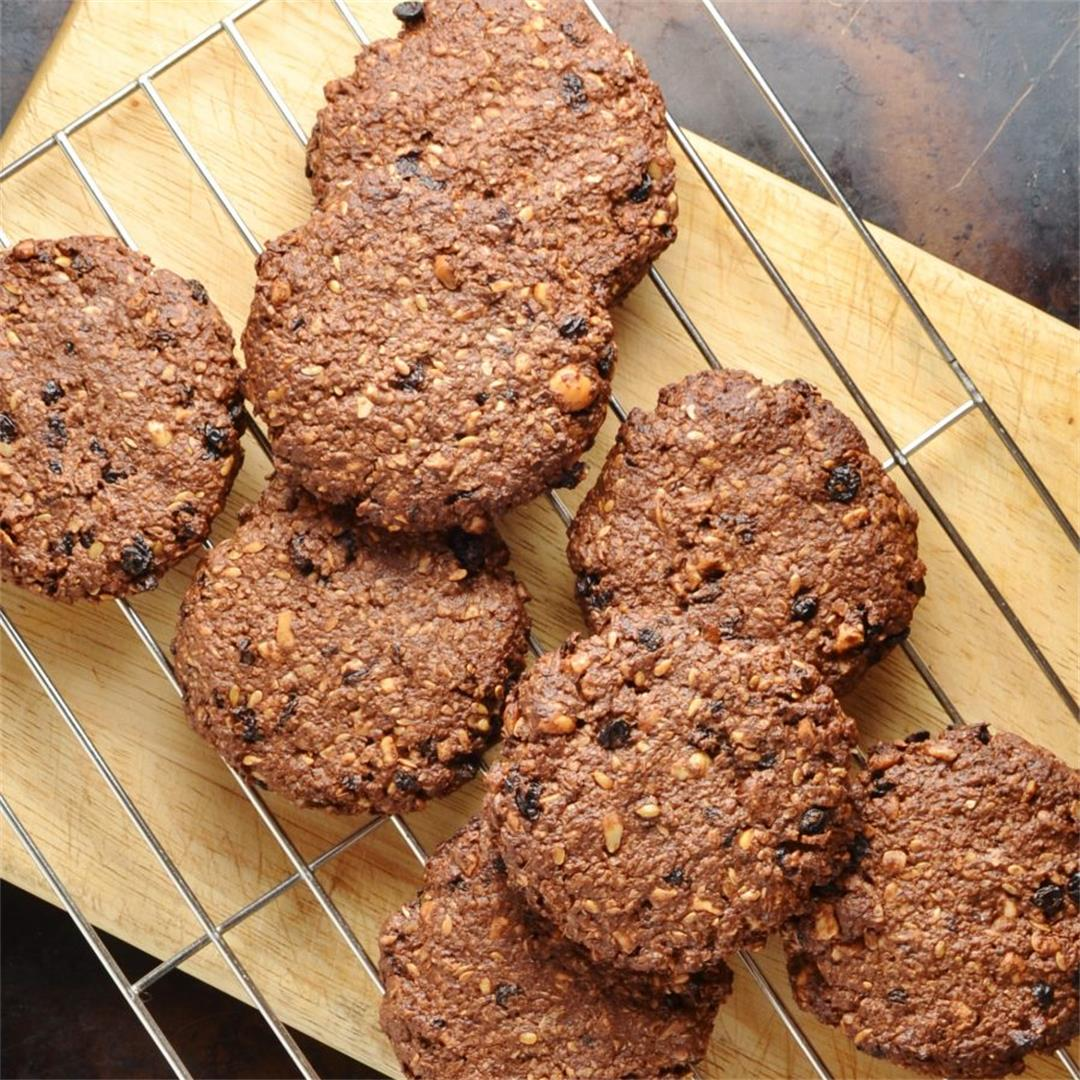 Healthy Chocolate Oatmeal Breakfast Cookies