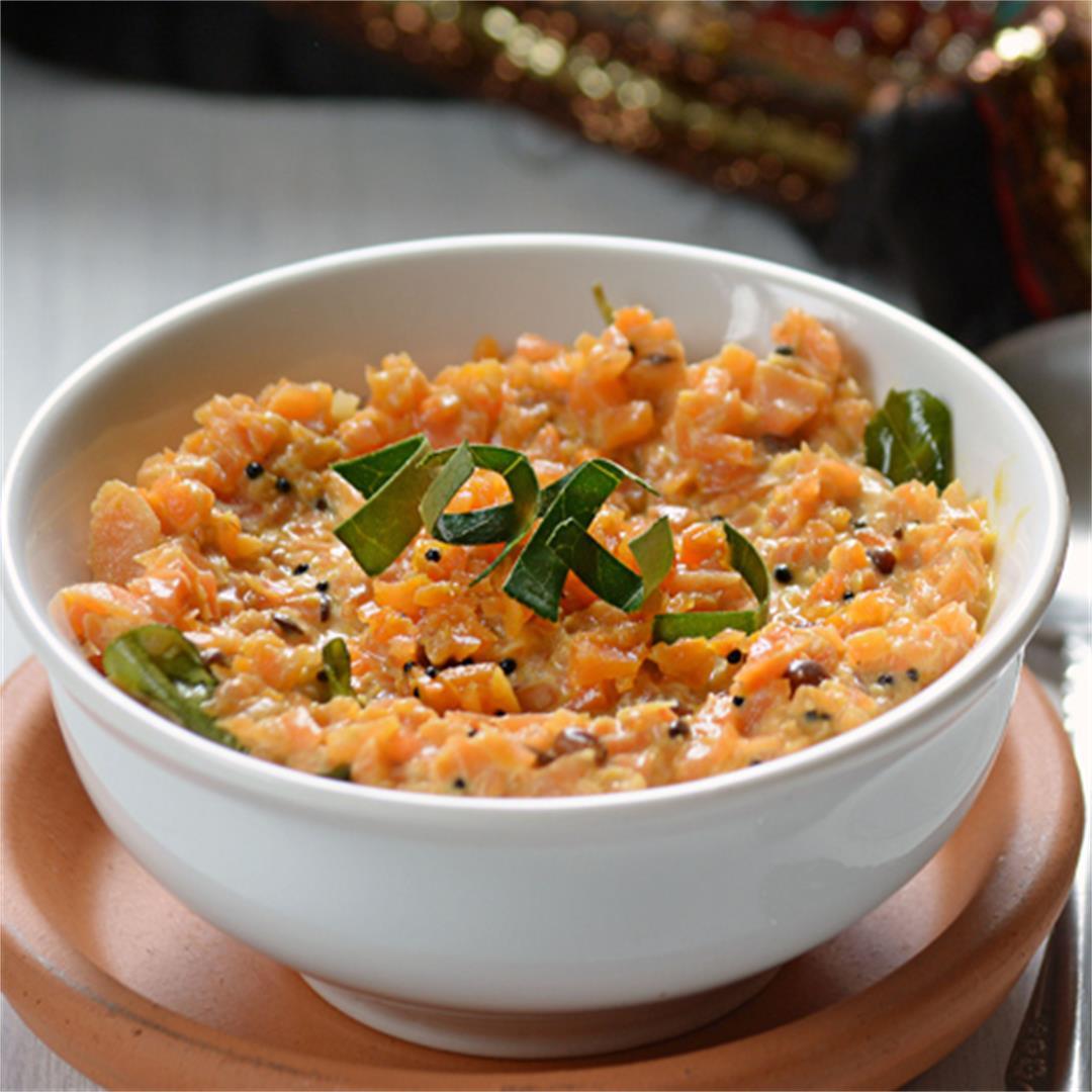Carrot pachadi-Carrot in Yogurt sauce