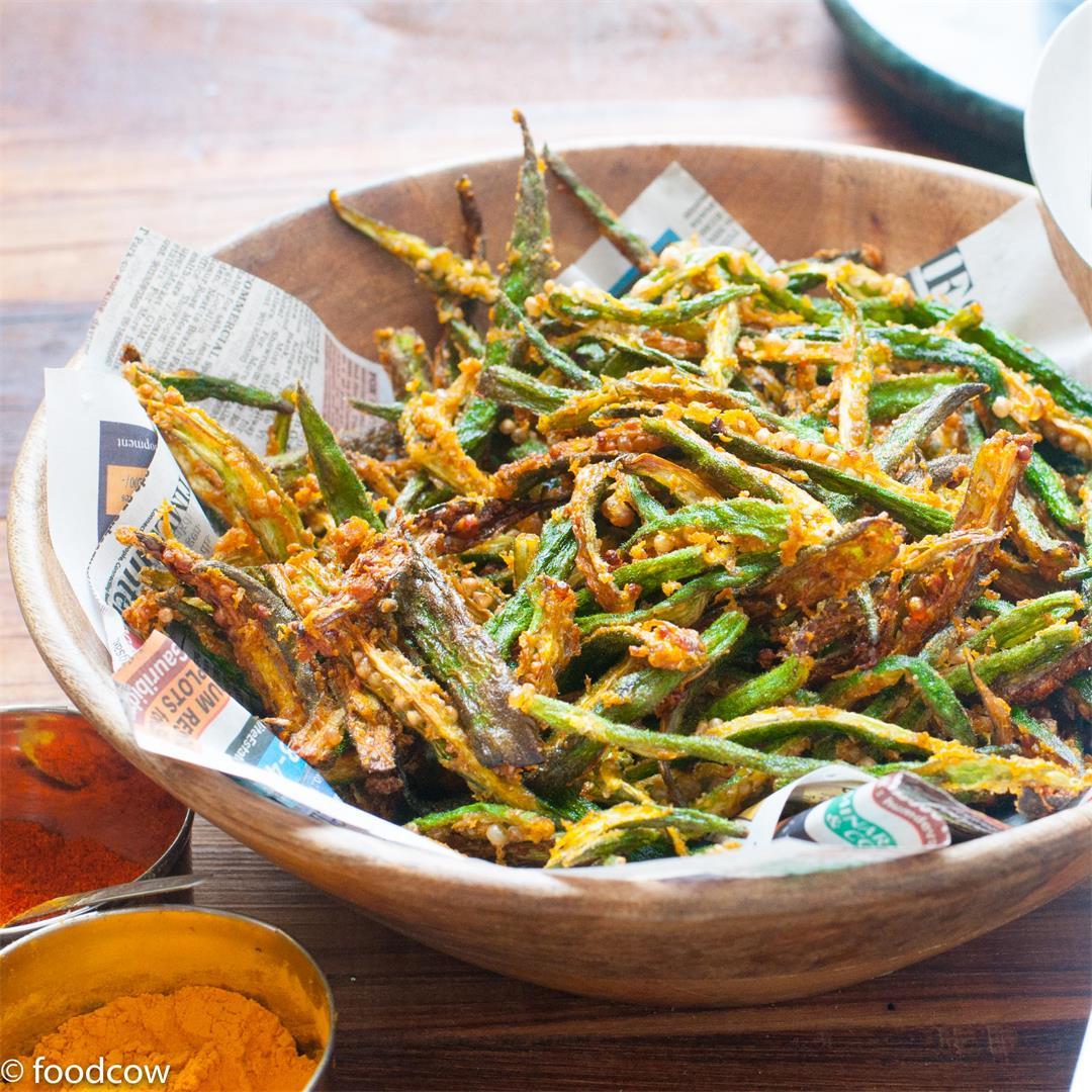 Kurkure Bhindi Fry | Indian Crispy Fried Ladies Finger