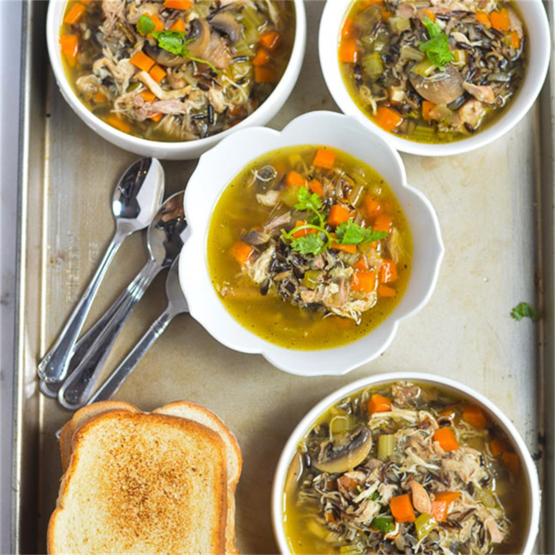 Instant Pot Chicken and Wild Rice Soup