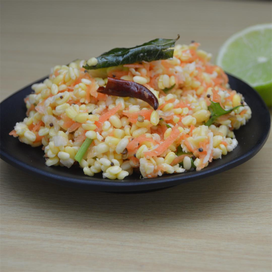 Carrot split green gram Salad |Carrot Kosambari