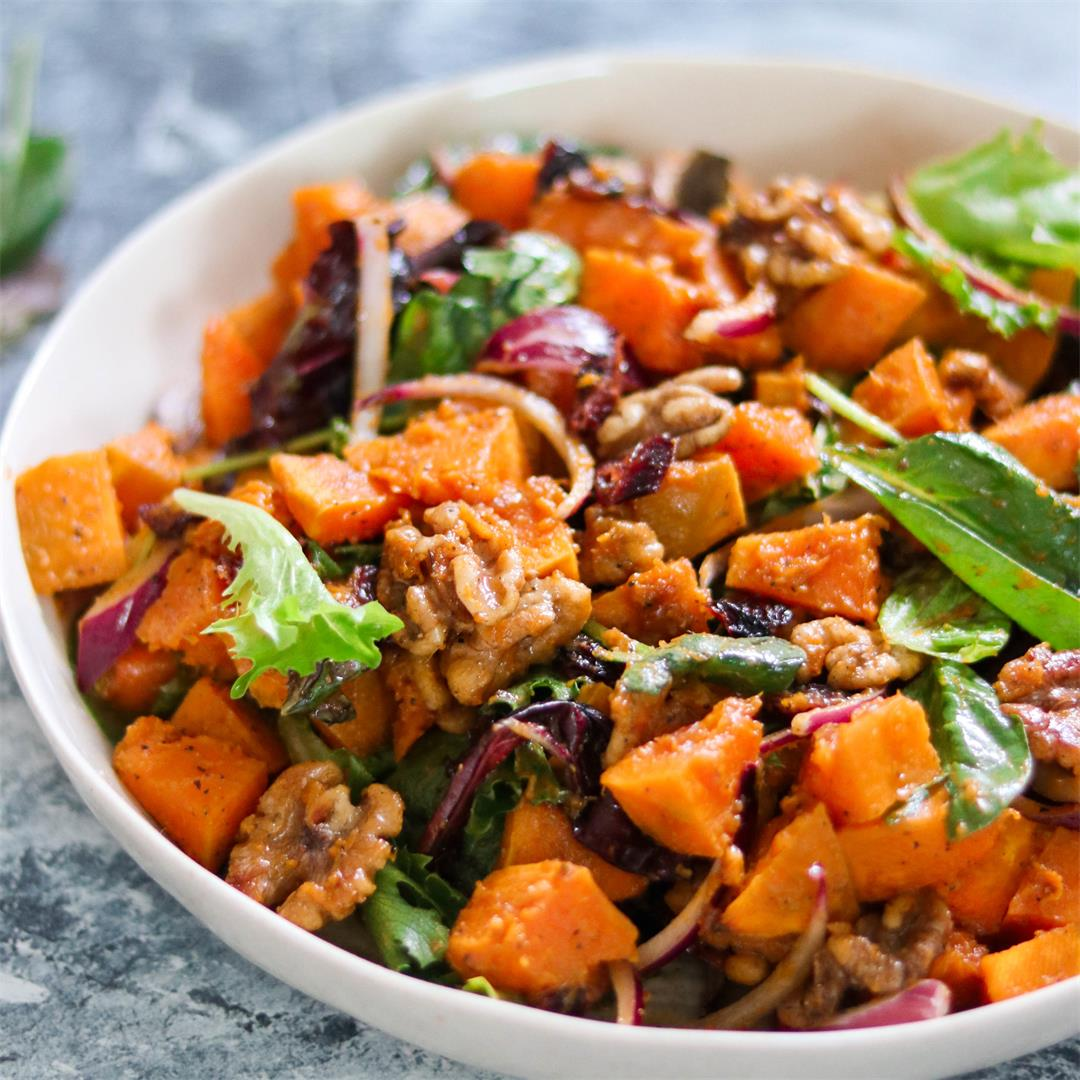 Whole30 Roasted Squash Salad (Paleo | Vegan)