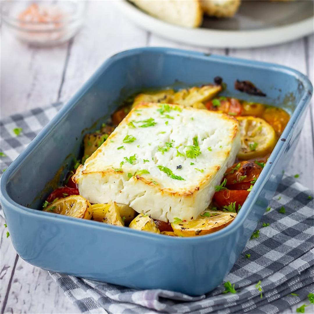 Baked Feta with Artichokes & Tomatoes