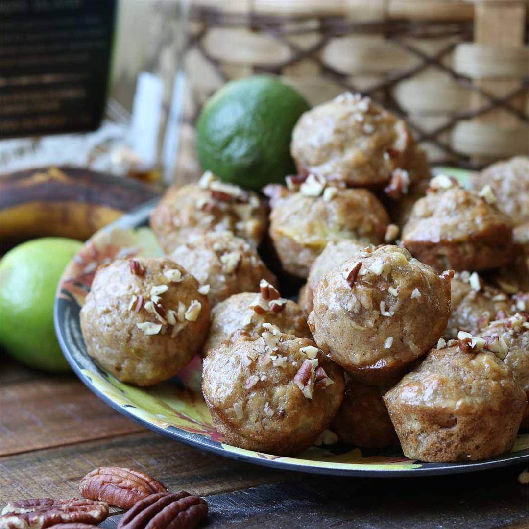 Jamaican Banana Bread Mini Muffin Recipe