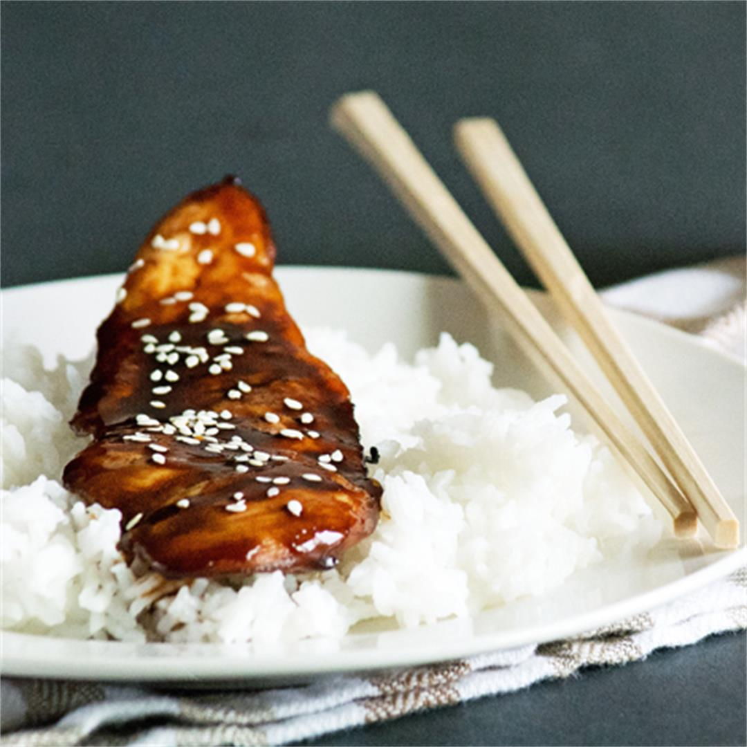 Teriyaki Chicken with store bought sauce