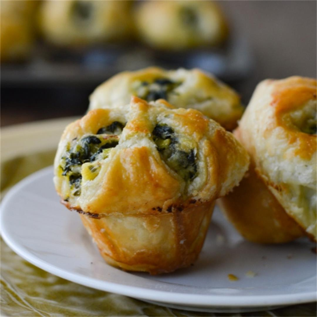 Spinach and Feta Puff Pastry Appetizers