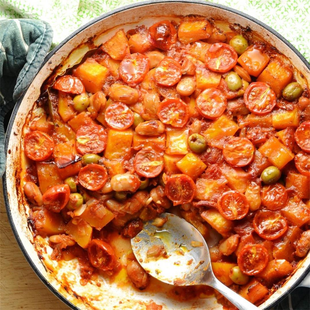 Mediterranean Butternut Squash Casserole Recipe (Vegan)