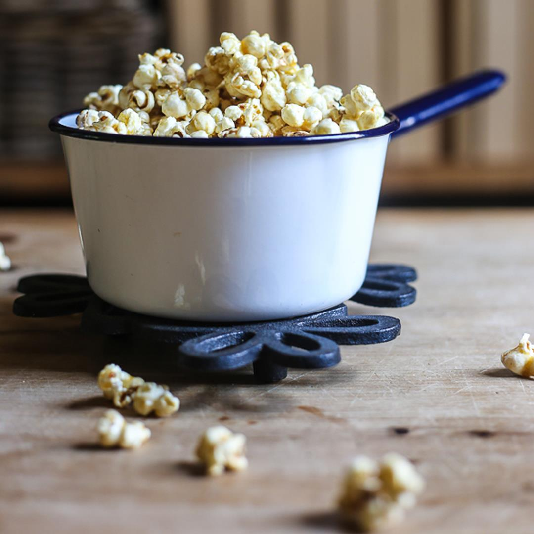 Buttered Maple and Bacon Salt Popcorn