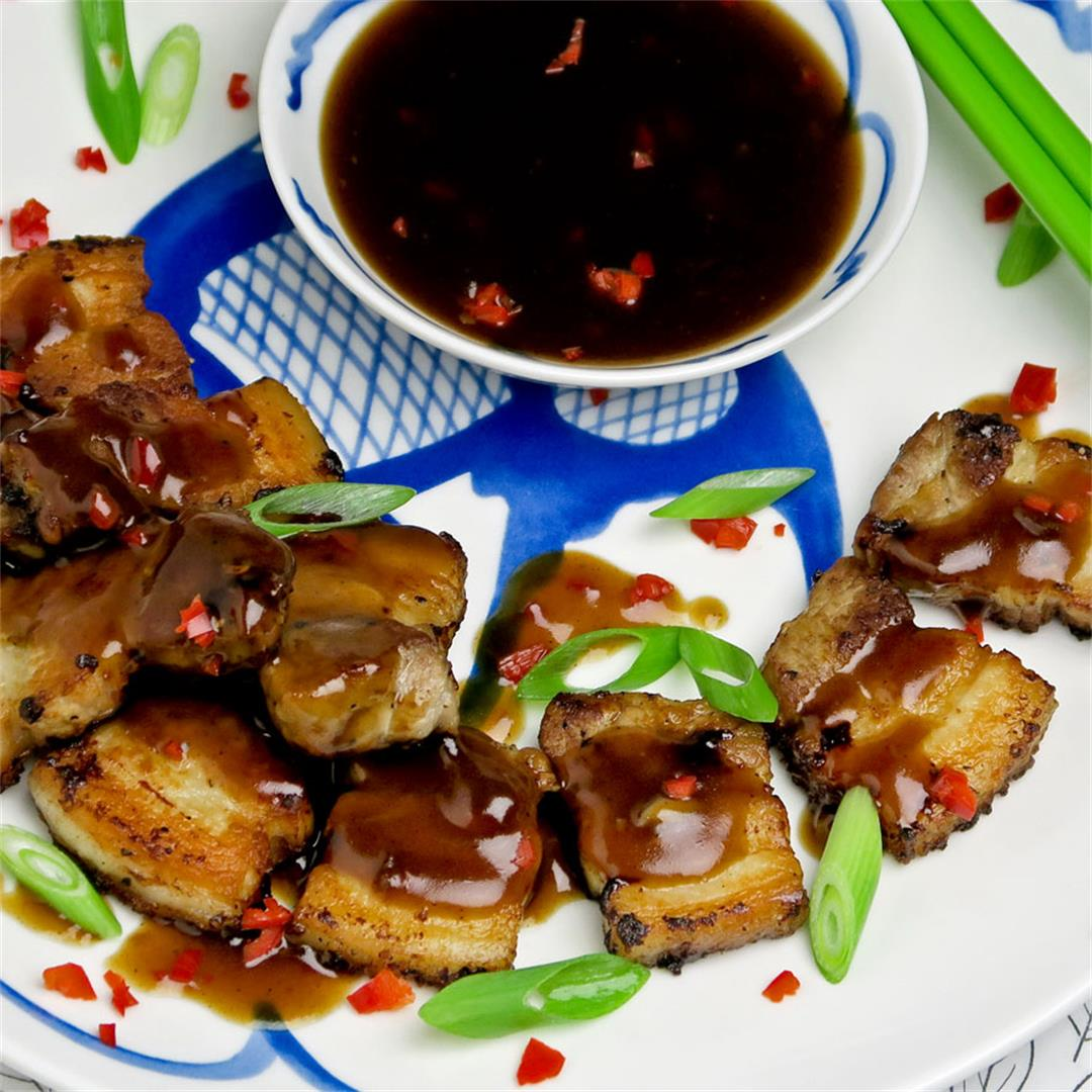 Crispy Chinese pork with a spicy hoisin based sauce
