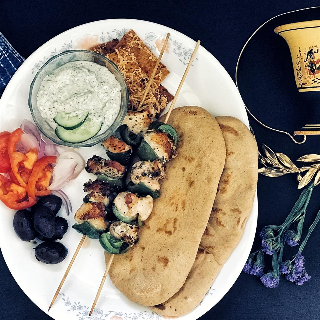 Greek Style Kebabs, the Chicken Souvlaki
