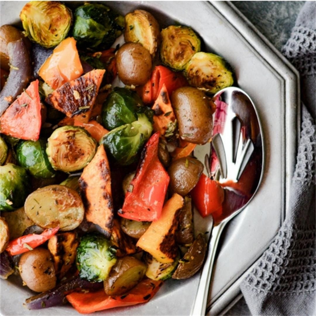 Perfectly Roasted Veggies with Garlic and Herbs