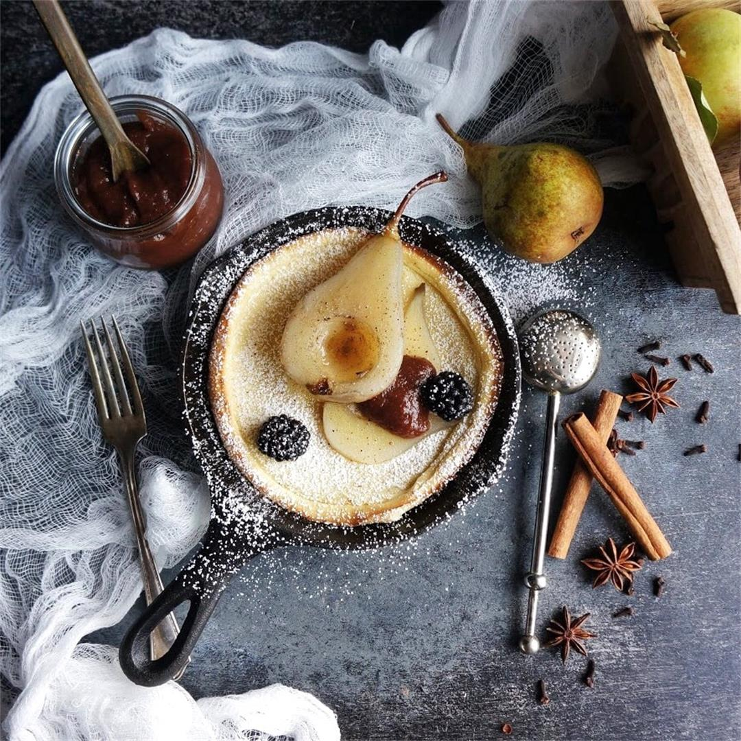 Poached Pear Dutch Baby