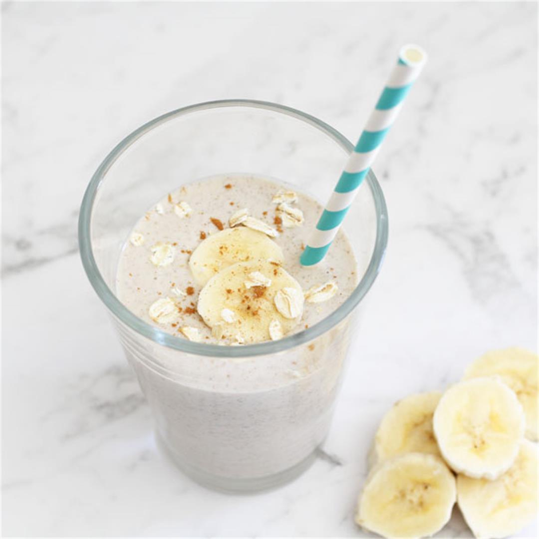 Banana Oat Breakfast Smoothie