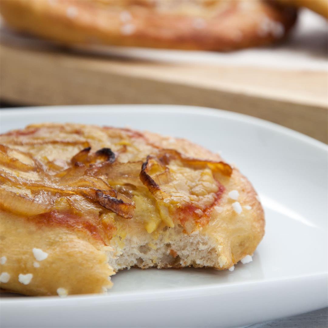 Vegan Mini Pretzel Pizzas