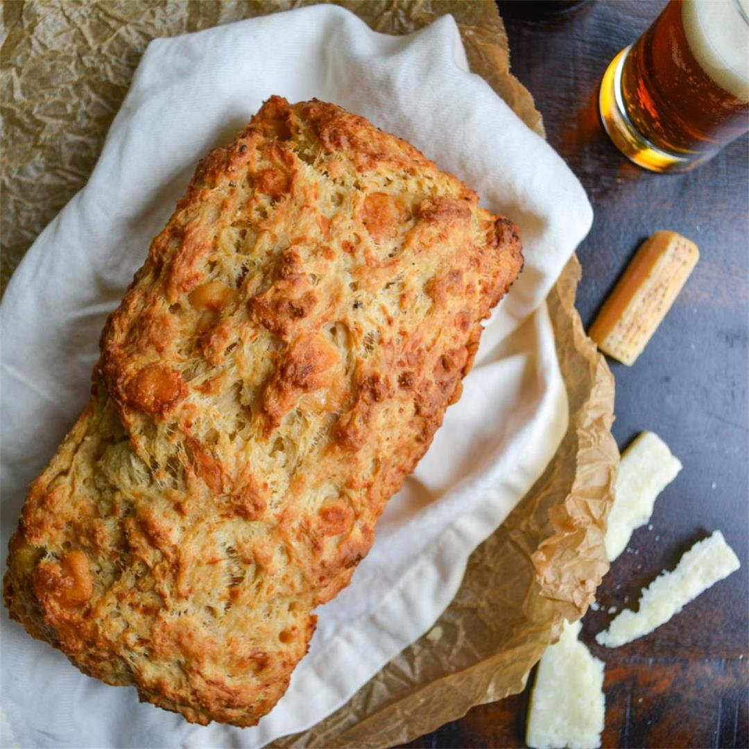 Parmesan Pumpkin Beer Bread - fast, easy, and delicious!