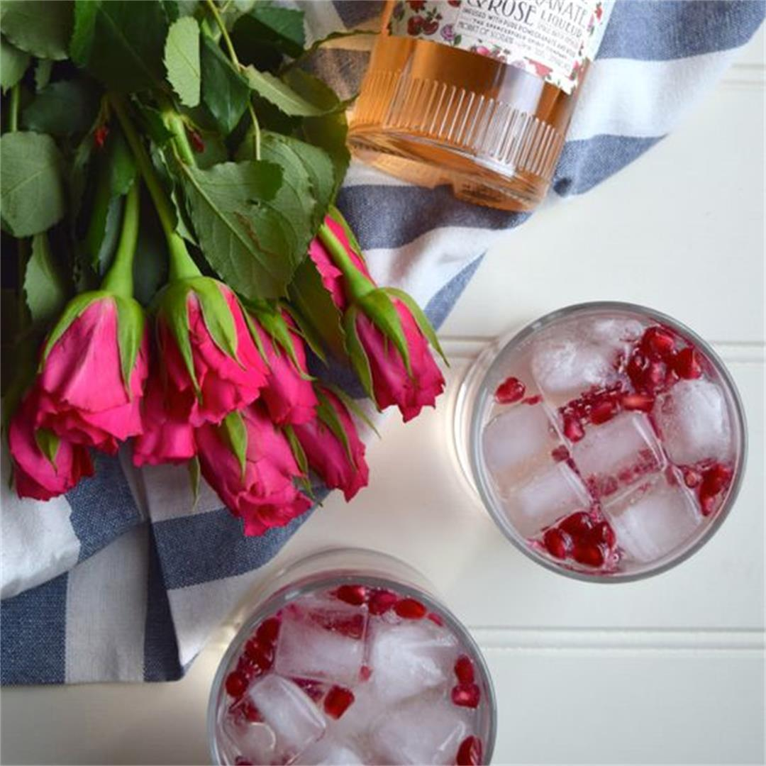 Rose & Pomegranate Gin and Tonics