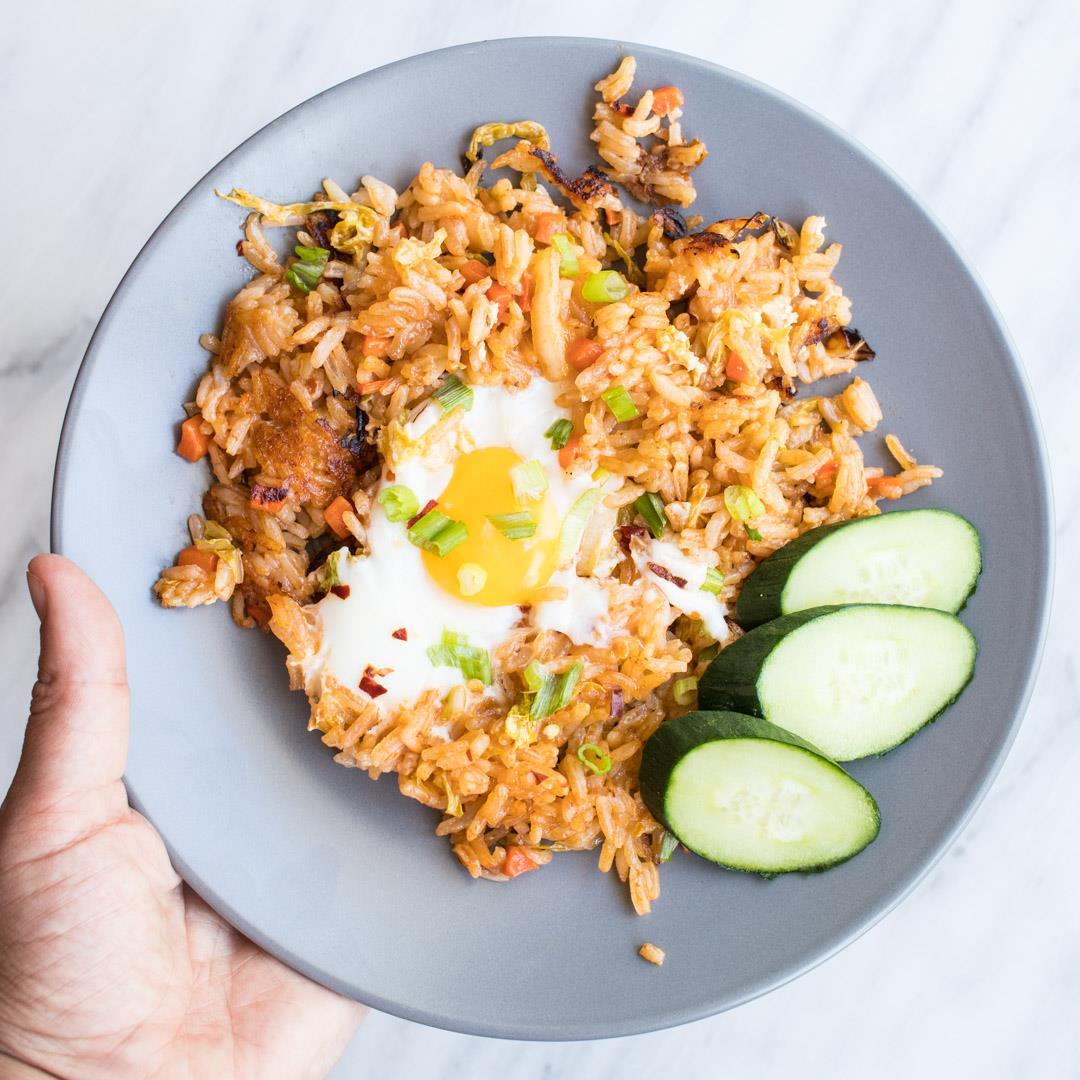 One-Skillet Low FODMAP Nasi Goreng (Indonesian Fried Rice)