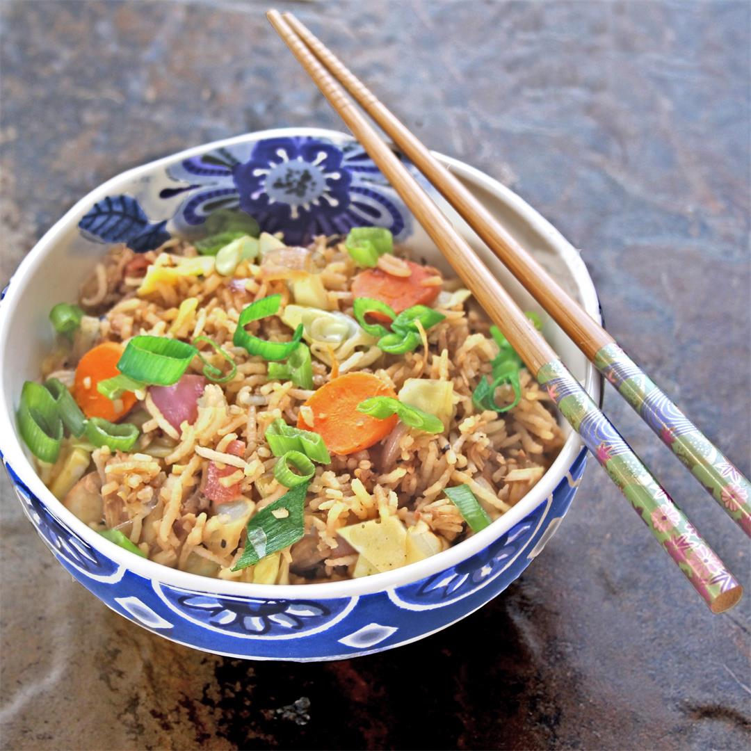 Leftover Vegetable Fried Rice