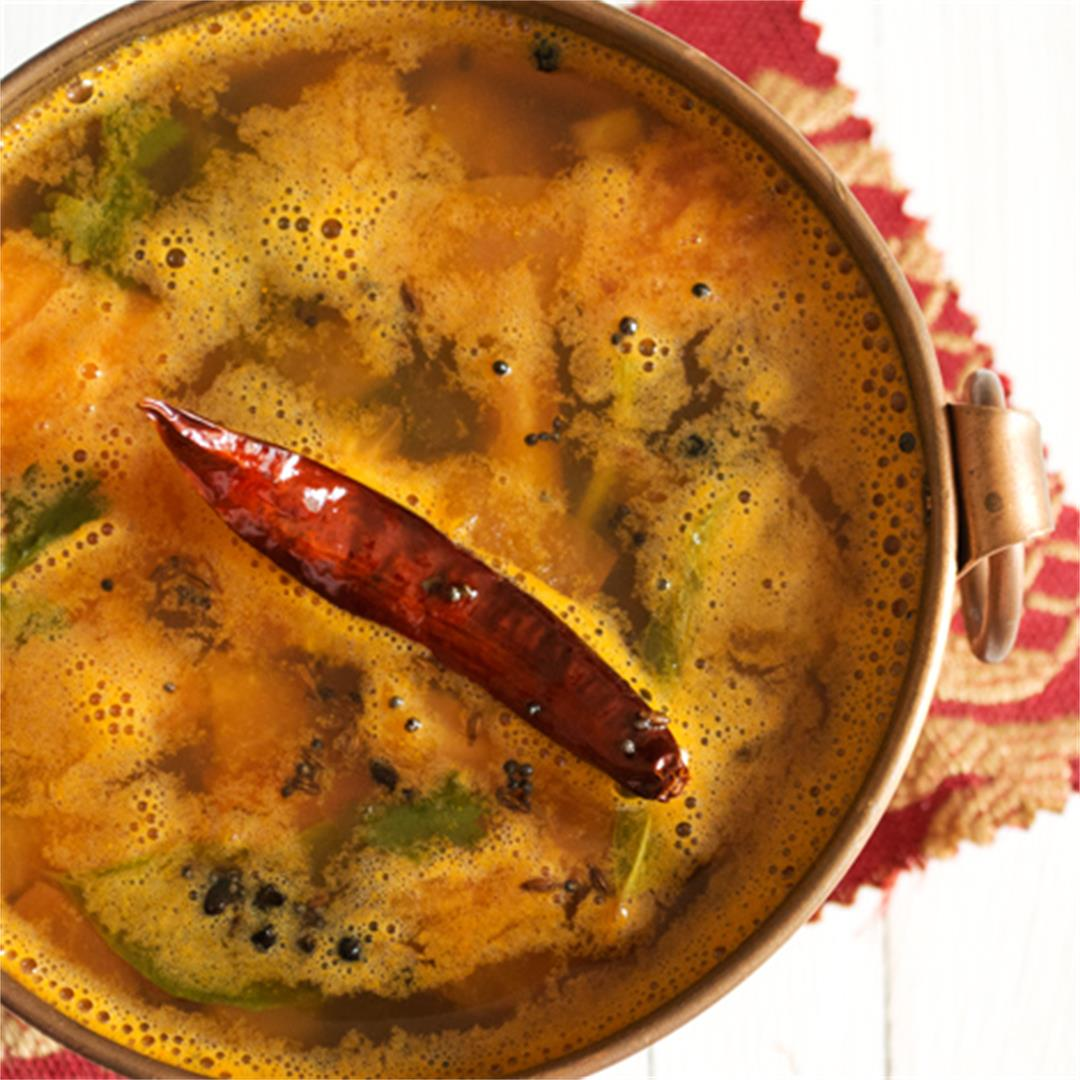 Pineapple Rasam, a South Indian delicacy