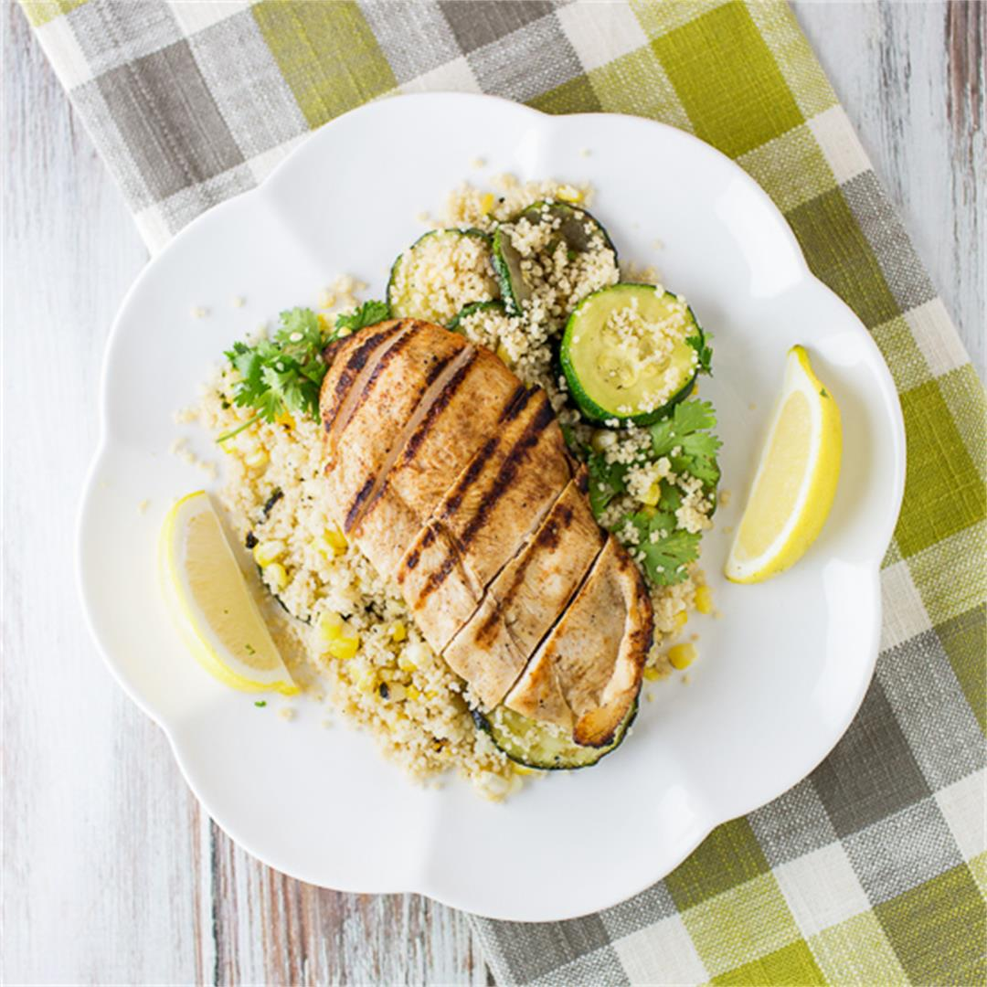 Spicy Chicken with Couscous Salad