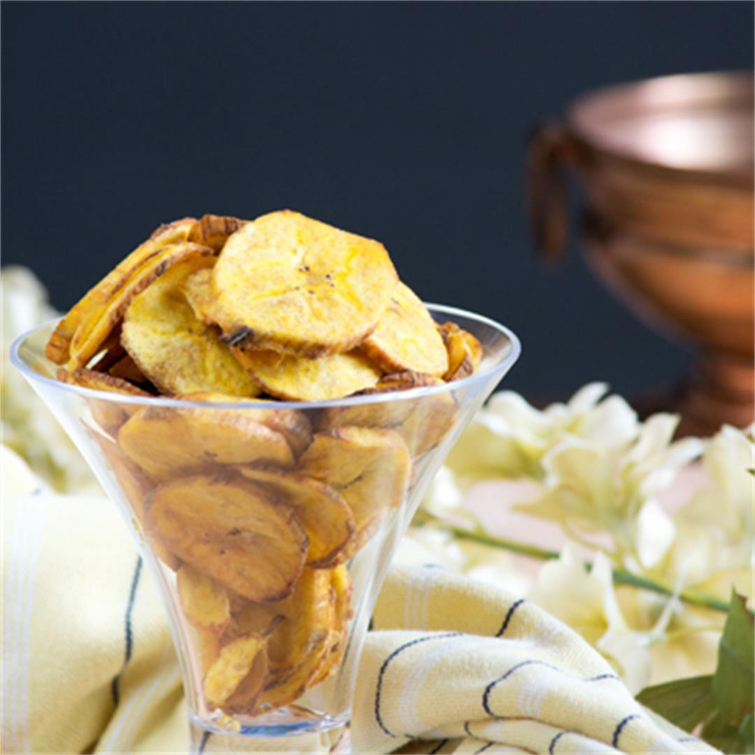 Plantain chips at home.. same as the store bought quality