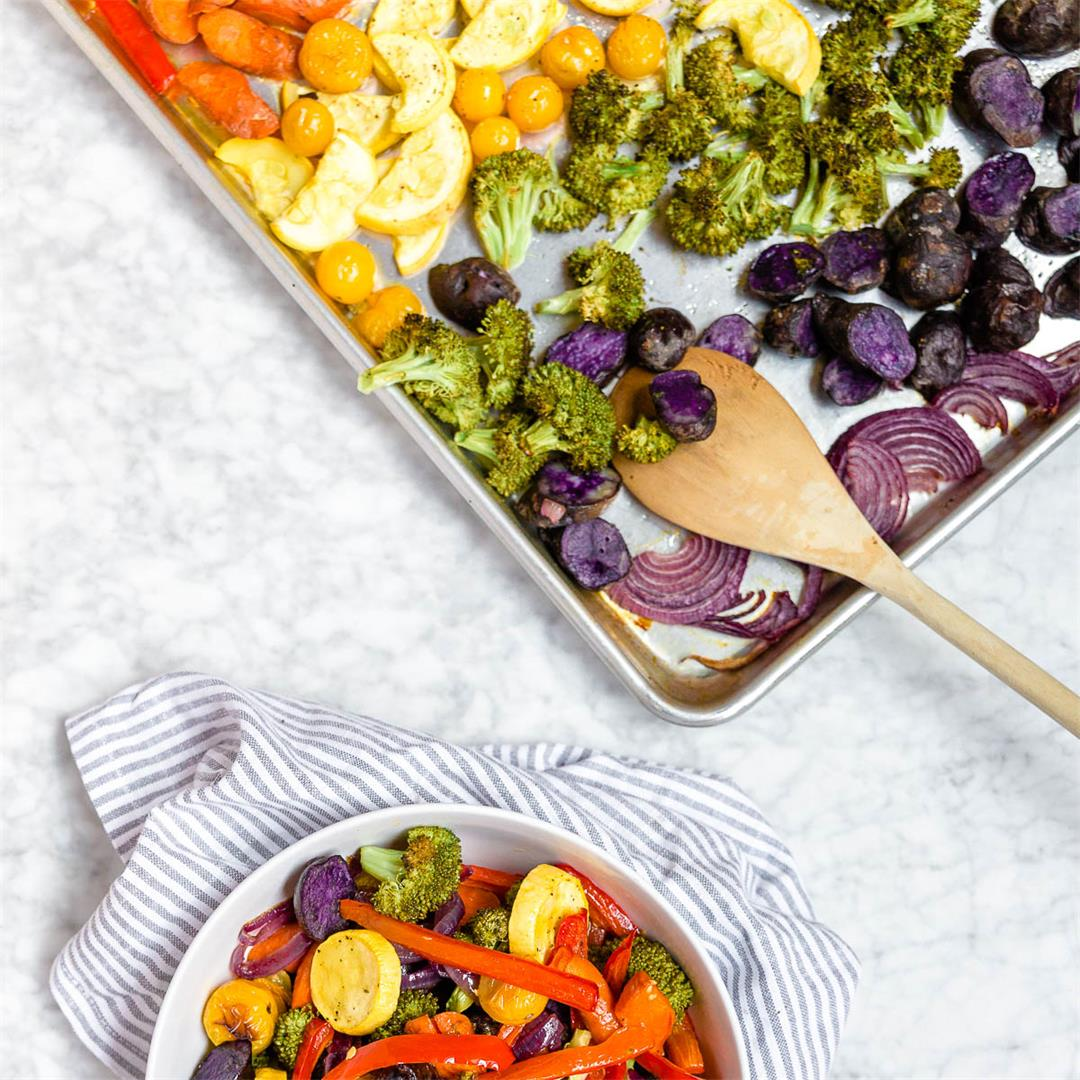 Meal Prep Roasted Rainbow Veggies