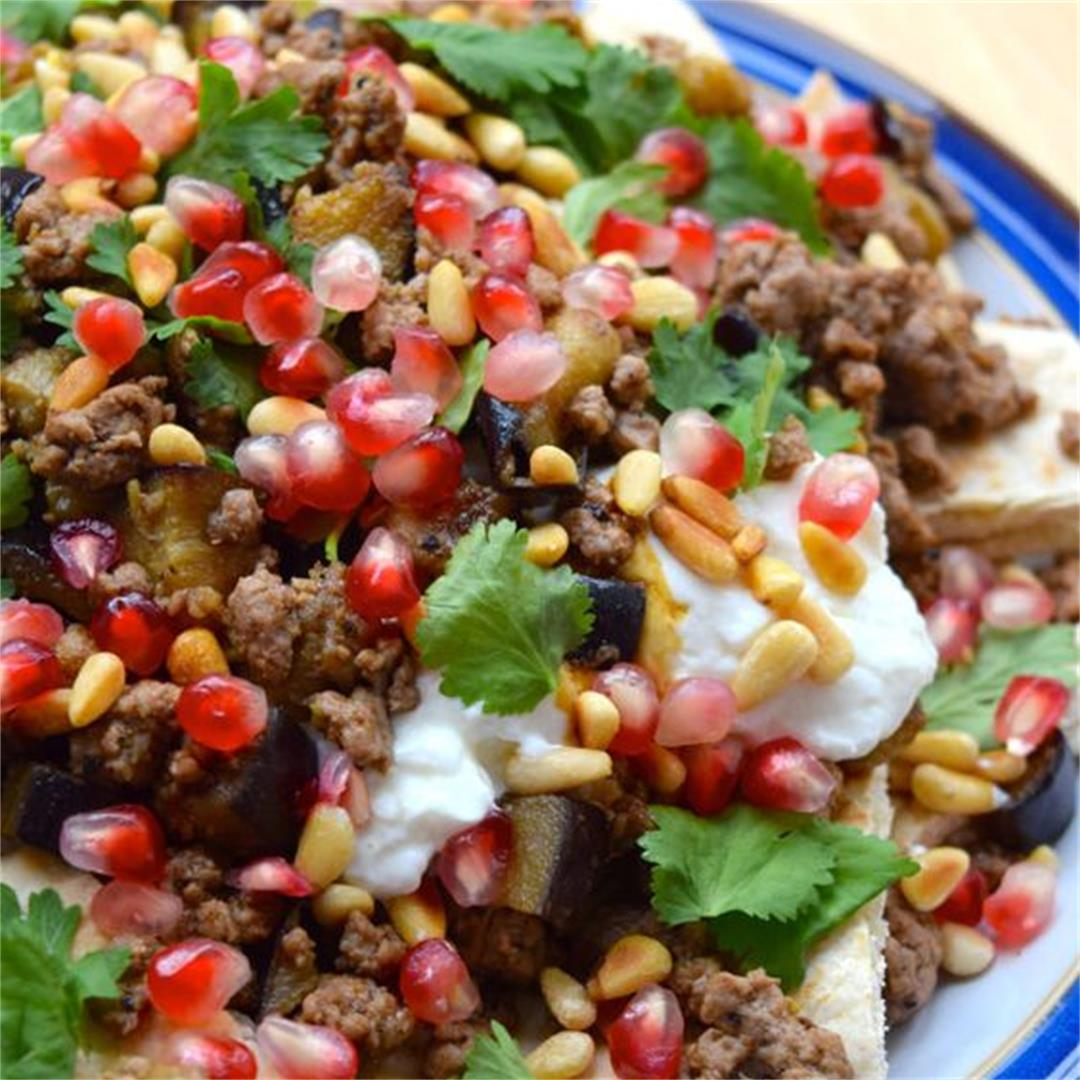 Spicy Middle Eastern Lamb Nachos