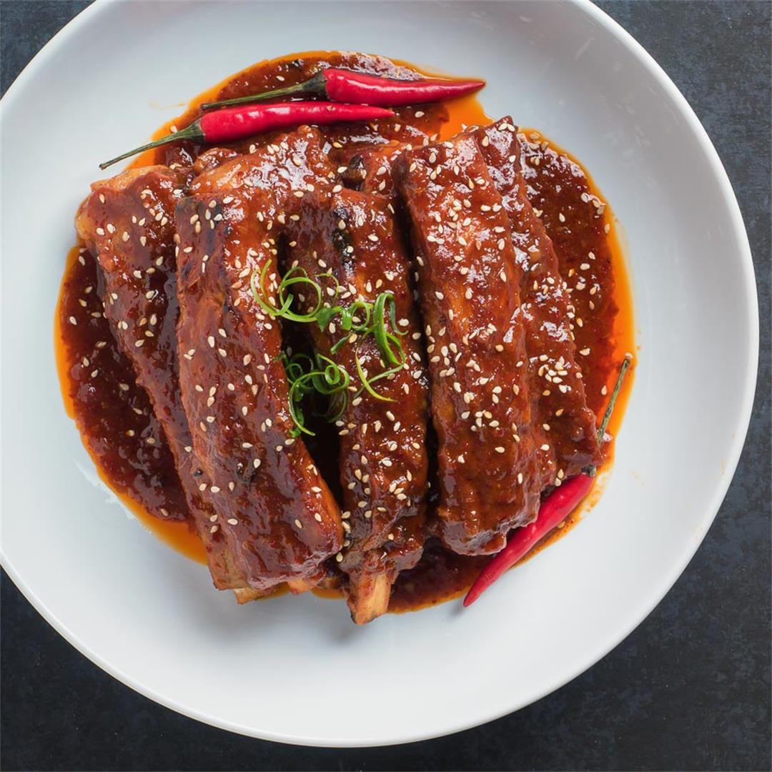 Korean Braised Pork Ribs