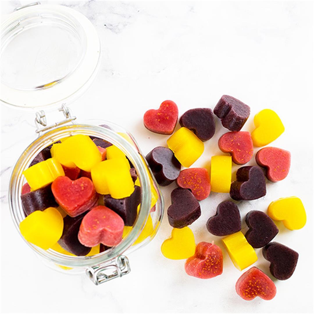 Homemade Real Fruit Gummies - No added sugar!