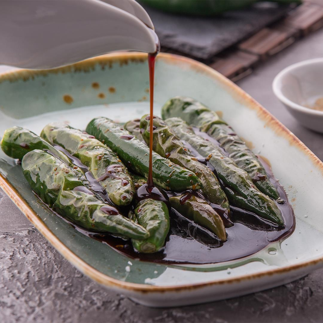 Green Chillis with Sweet Soy Sauce