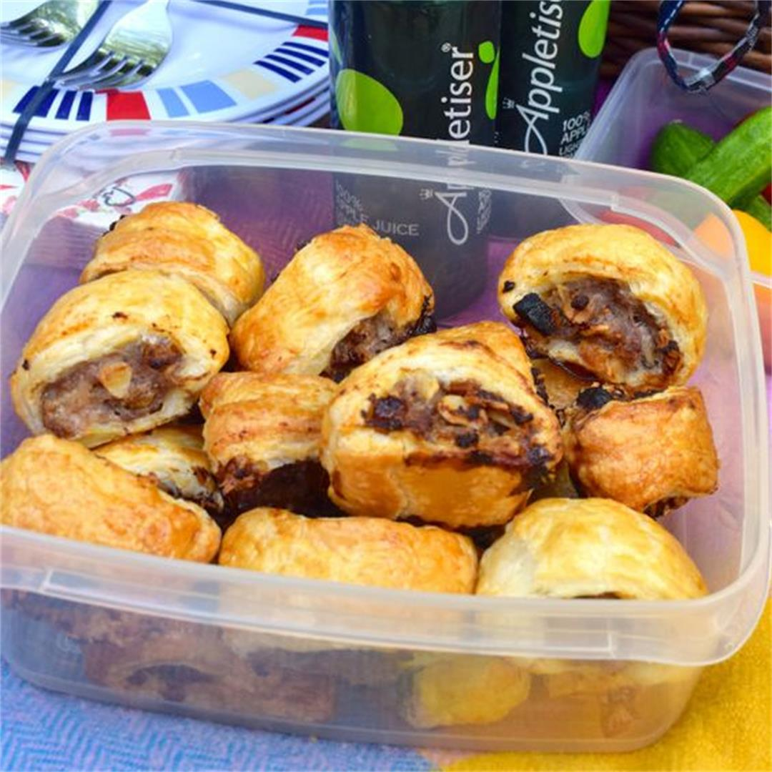 Easy Almond & Apricot Sausage Rolls