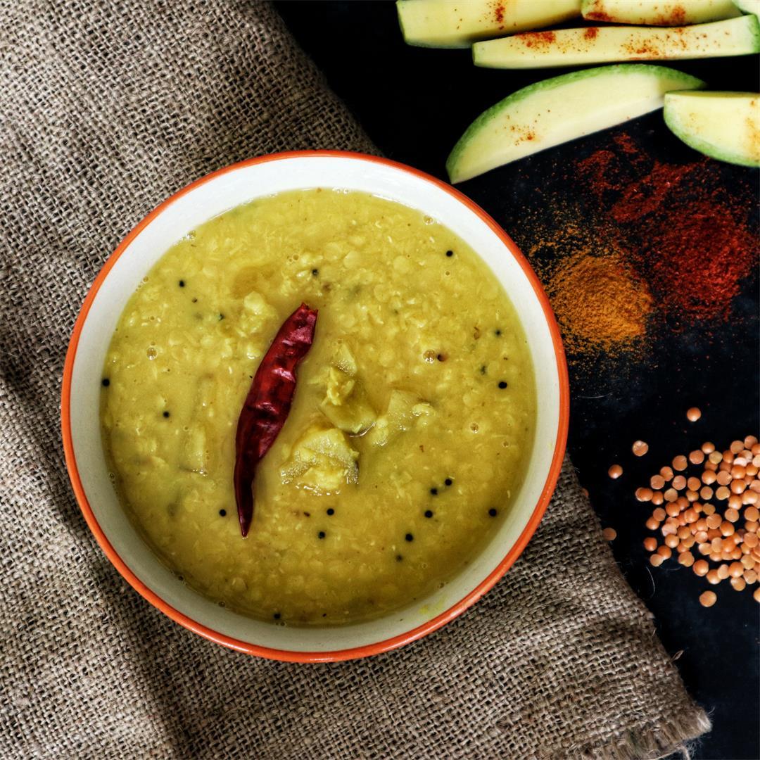 Aam Dal or Red Lentils & Raw Mango Dal