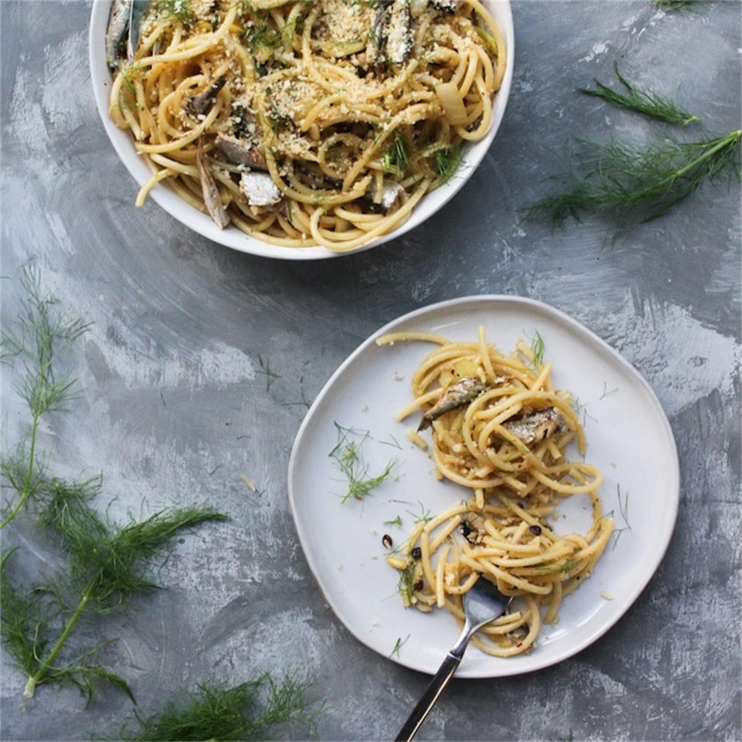 Pasta con le Sarde: Sardine Pasta with Fennel