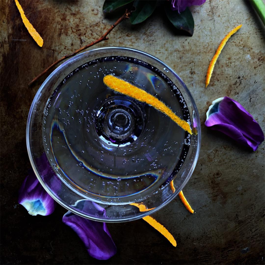 Creme de Violette & Prosecco Cocktail
