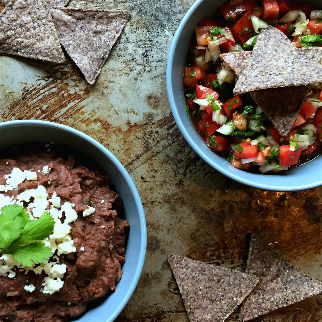 Costa Rican Refried Beans & Pico de Gallo
