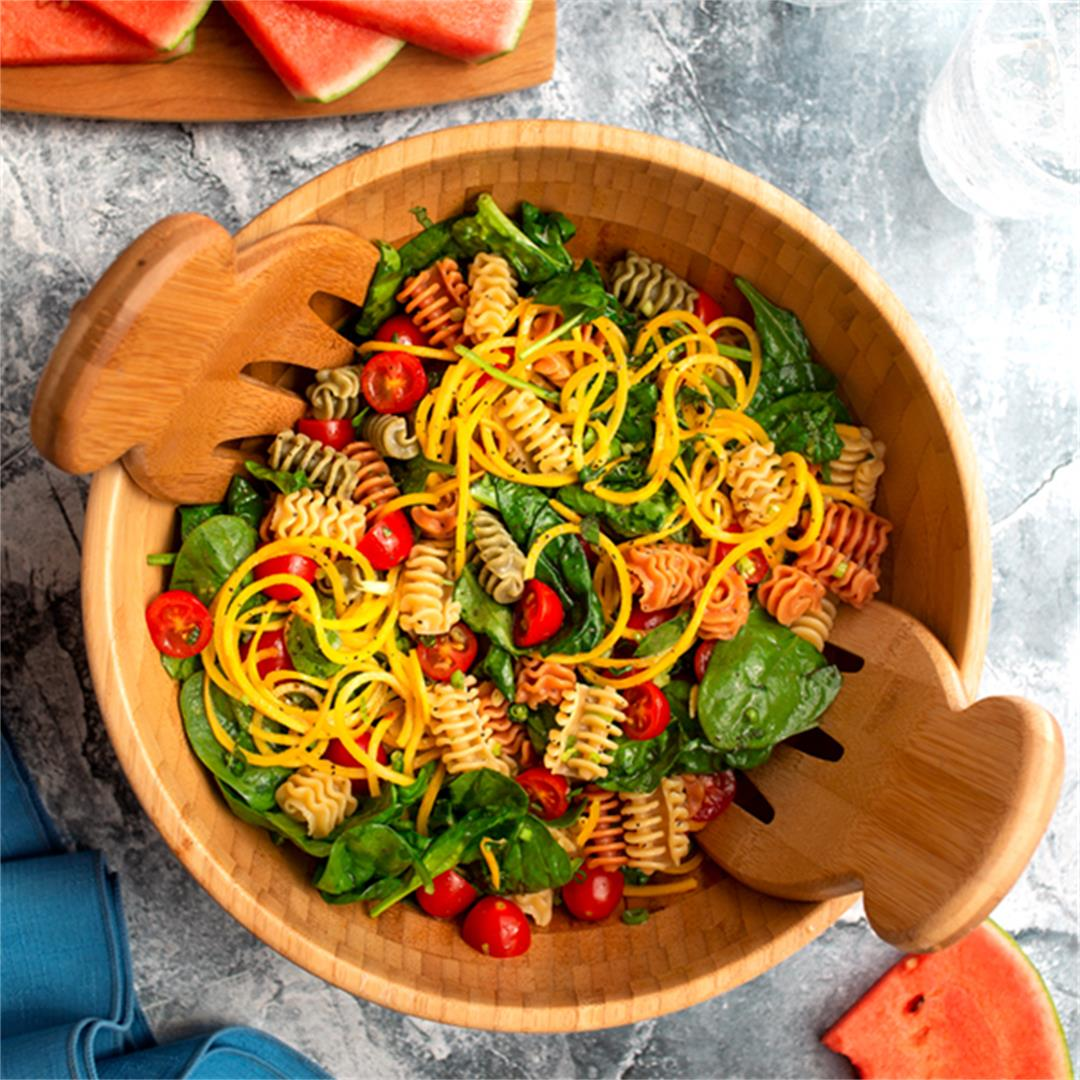 The very BEST pasta salad you can make; simple and fresh!