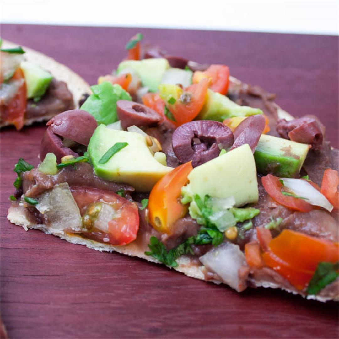 Vegan Mexican Tortilla Pizza