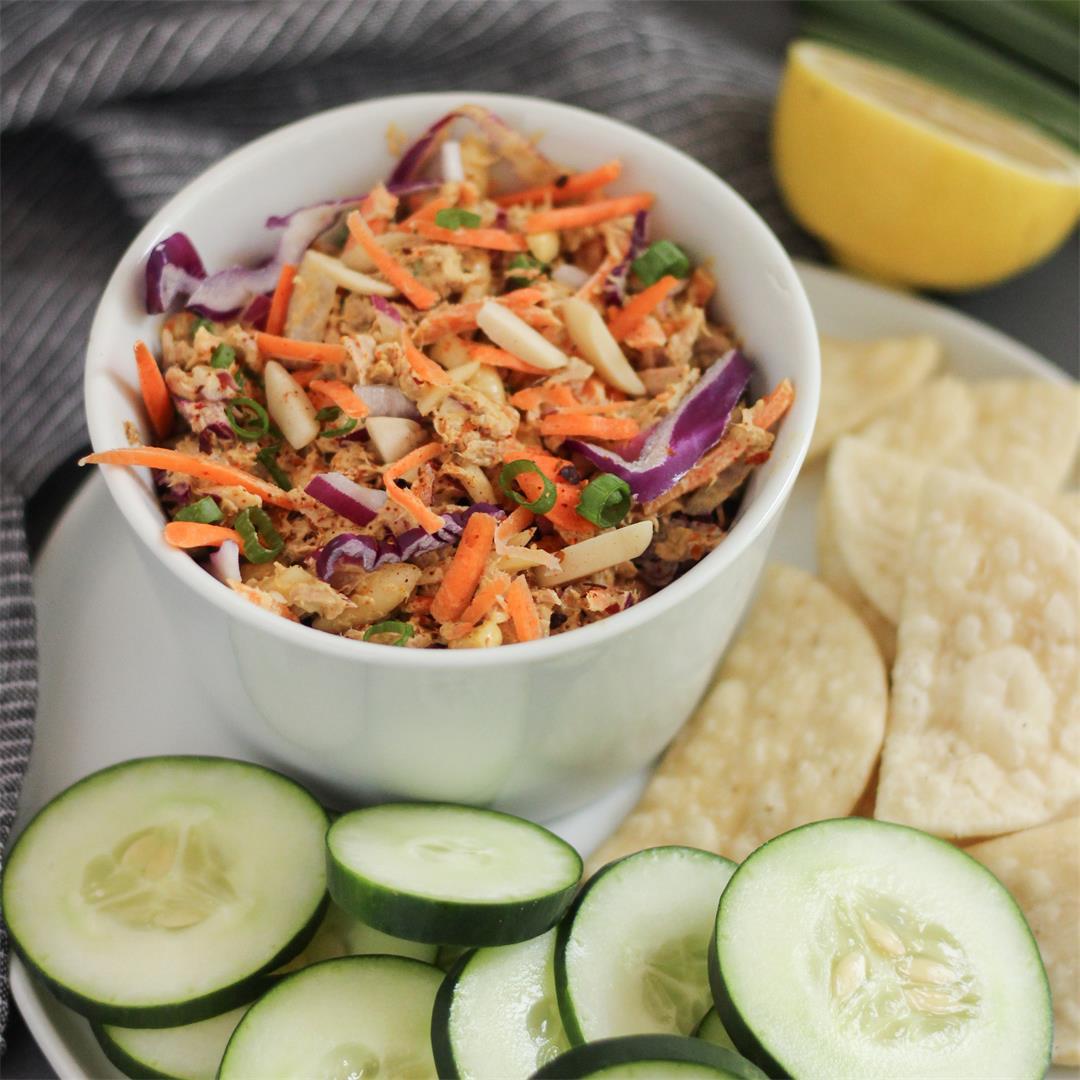 Crunchy Curried Tuna Salad Snackers