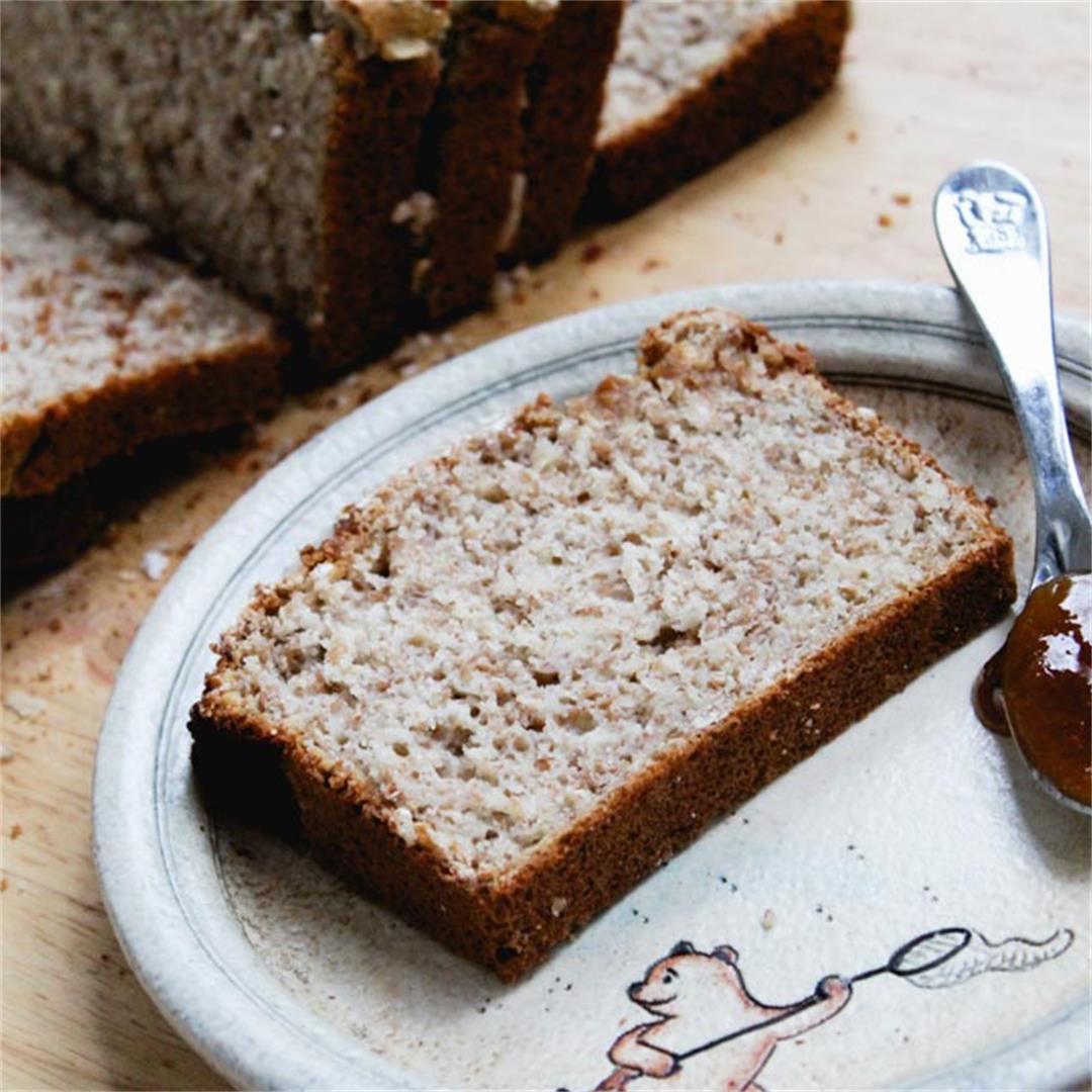 Honey & Oat Whole Grain Bread Recipe (1 bowl)