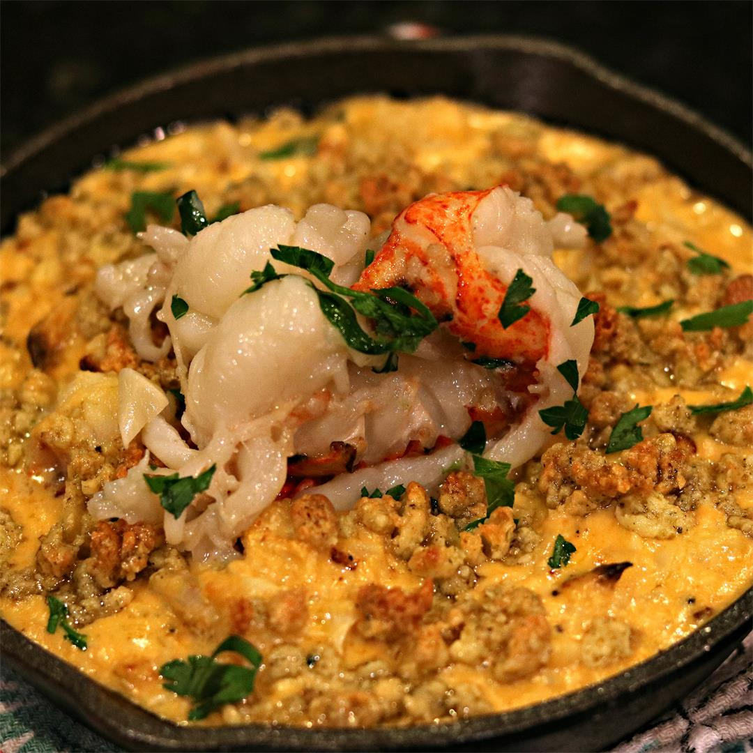 Lobster Cauliflower Mac n' Cheese (Low-carb, Keto-friendly)