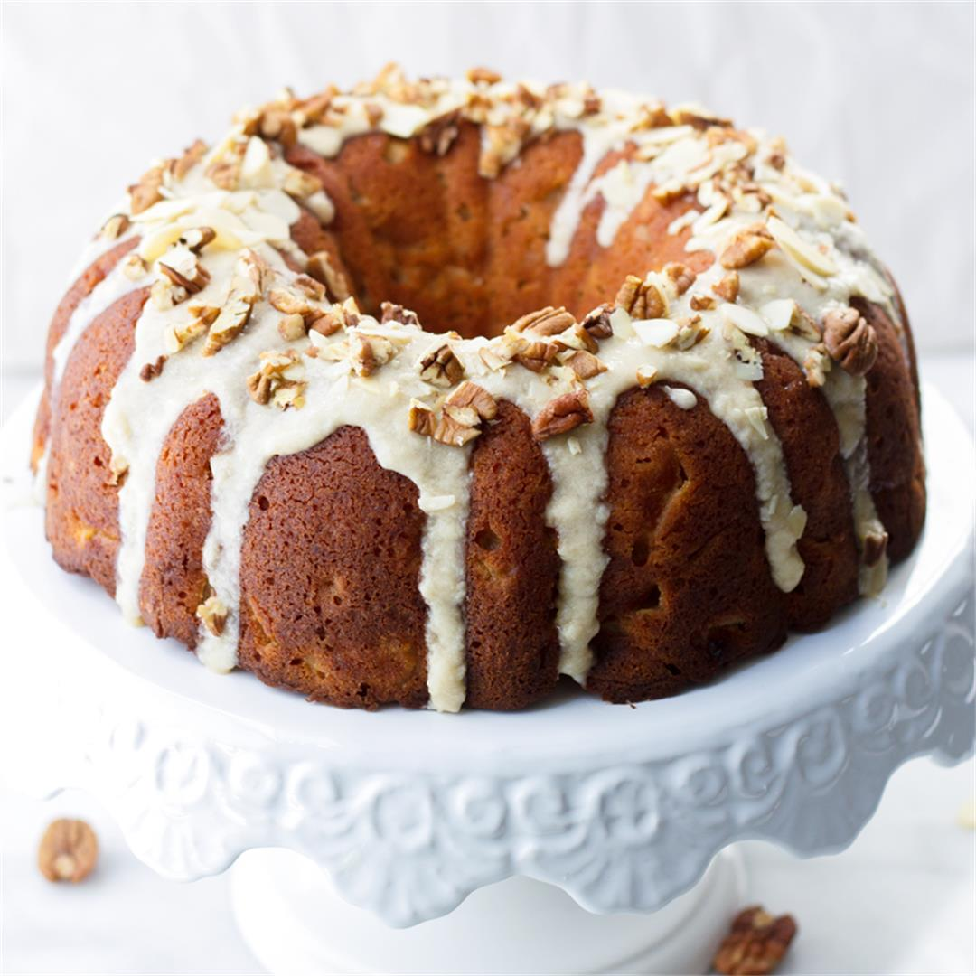 Apple Bundt Cake with Maple Glaze