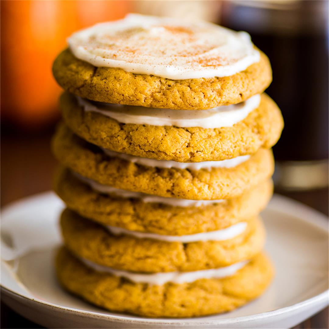 Small-batch Soft Pumpkin Cookies with Cream Cheese Frosting