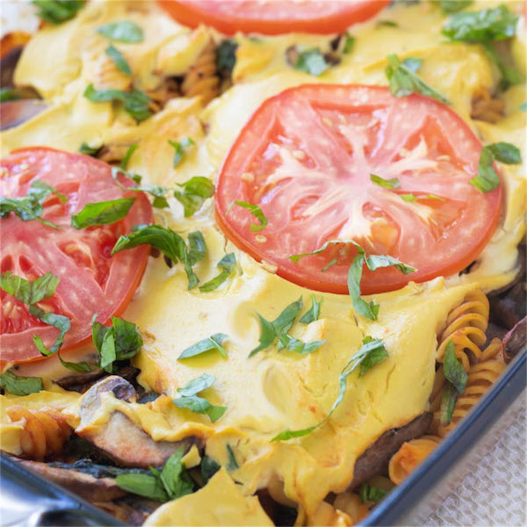 High Protein Vegan Pasta Bake