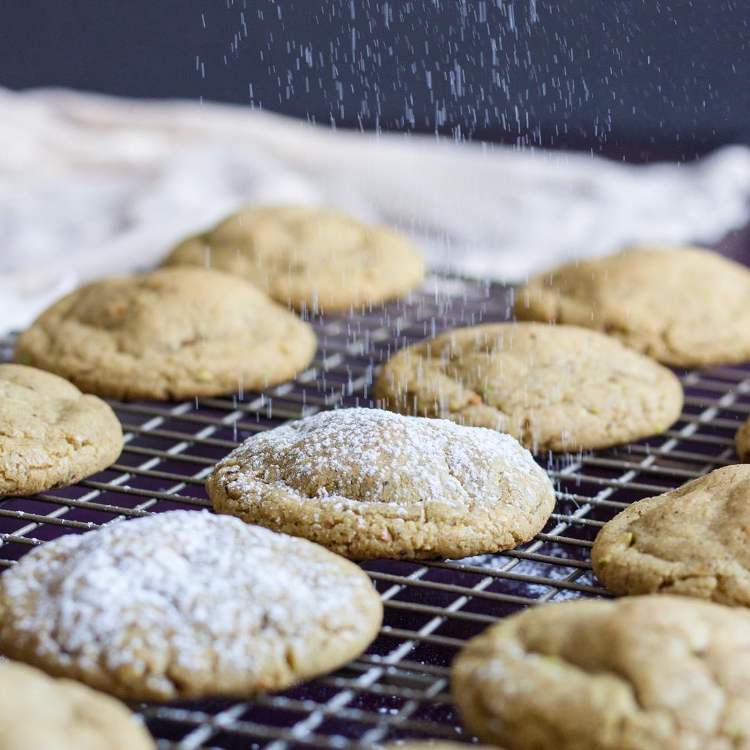Pistachio Butter Cookies with Orange & Cardamom