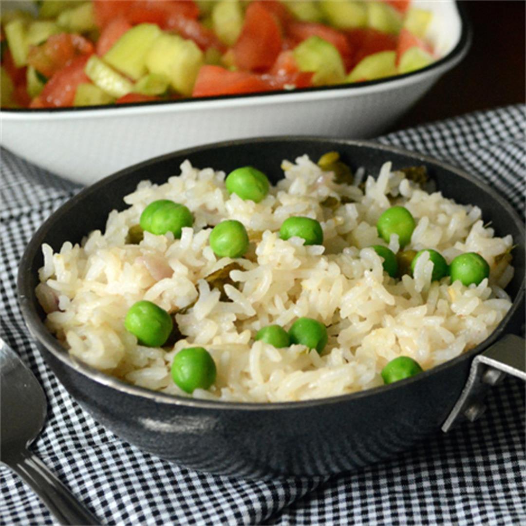 Green Peas Puloa, Easy to make rice