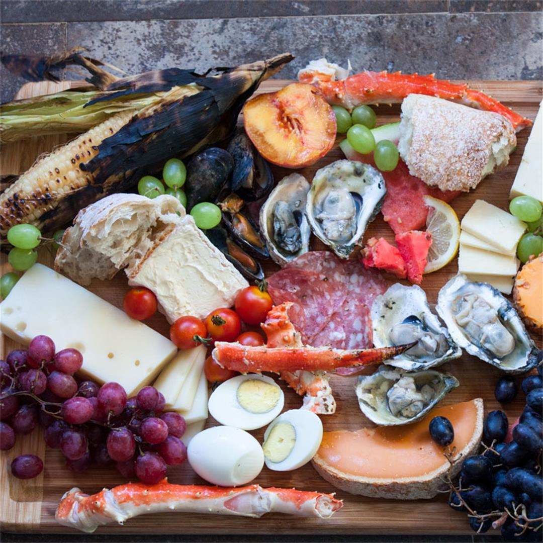 Charcuterie Platter with Seafood