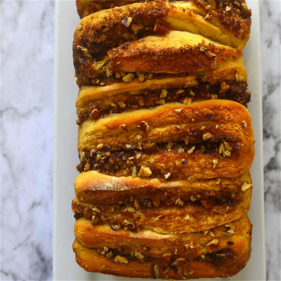 Apple Walnut Pull Apart Bread