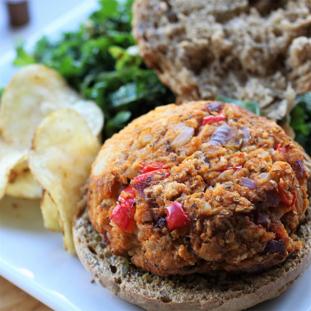 Butternut Veggie Burgers (vegan, GF)