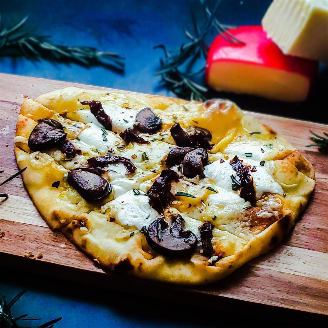 Vegetarian Flatbread Pizza